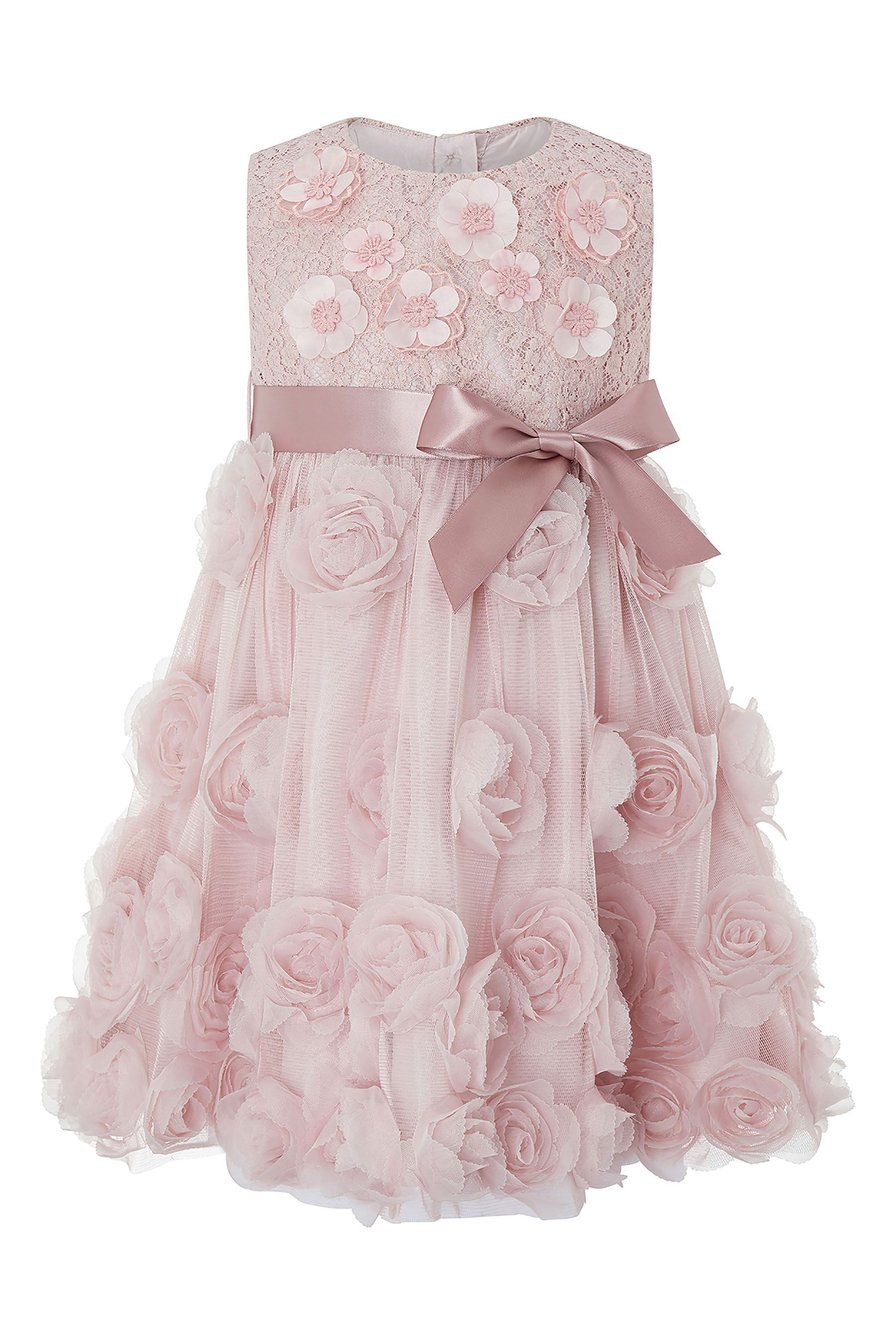 b7780e25 Girls Monsoon Baby Rosie-Nola Dress - Pink | Products | Kids outfits ...