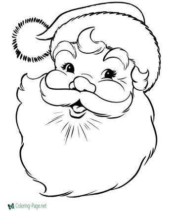 Santa Claus Christmas Printable Coloring Pages For Kids