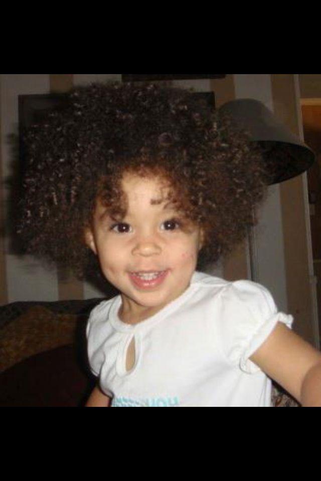 Biracial little girl!!' So precious!!!