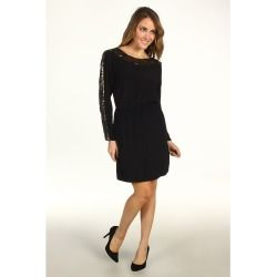 BCBGMAXAZRIA - Marcel Sequin Trim Dress (Black) - Apparel - product - Product Review