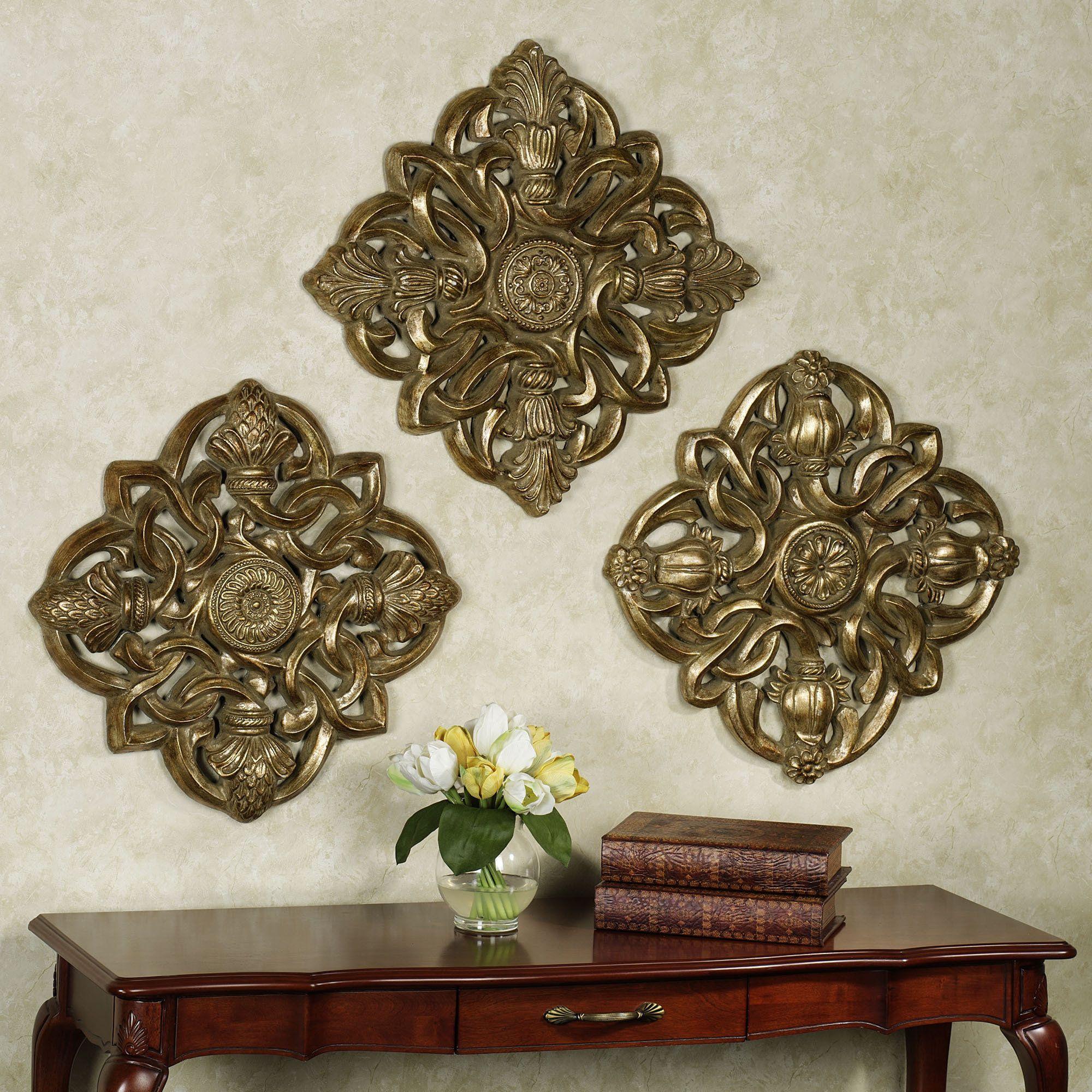 Decorative Wall Plaques greyson medallion wall plaque set | decorative walls, third and walls