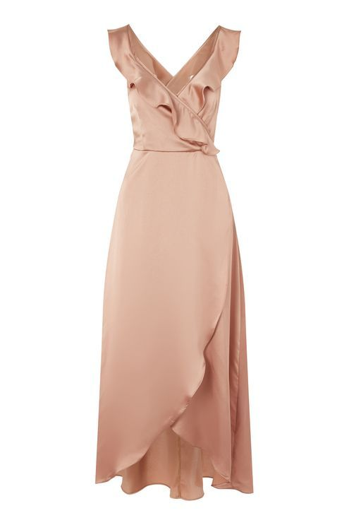 Heartbreak Hotel Satin Wrap Maxi Dress by WYLDR