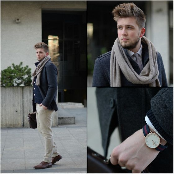 Daniel Wellington Watch, Natur Jacket, Tommy Hilfiger Sweater, Natur Pants #fashion #mensfashion #menswear #mensstyle #streetstyle #style #outfit #ootd