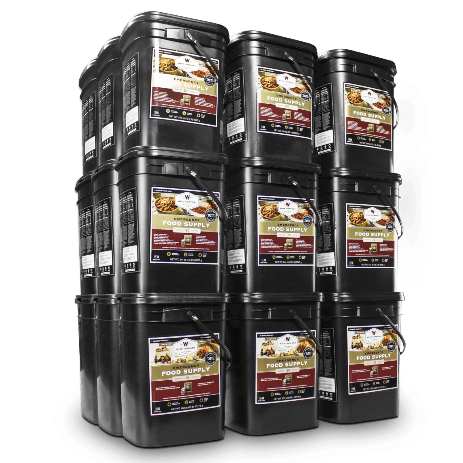 Ultimate Family Survival Package 12 Months 4320 Serving Package 744 Lbs Includes 24 120 Survival Food Storage Wise Food Storage Emergency Food Storage