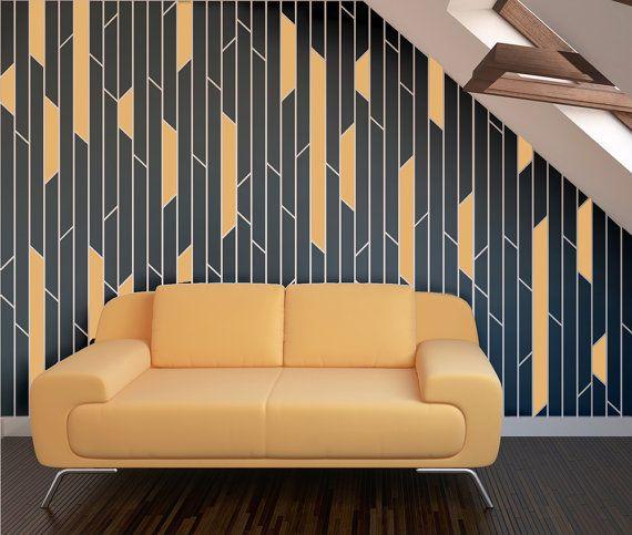BROKEN LINES Wall Stencil / Reusable Stencils / DIY / Home Decor ...