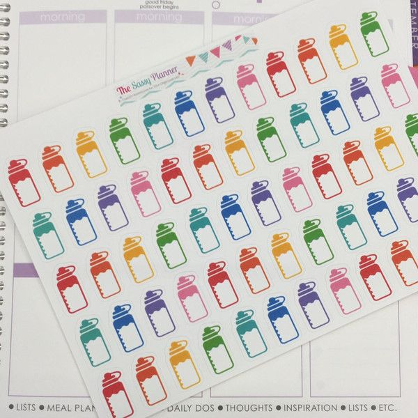 H10 Water Bottle Hydrate Stickers - Set of 60