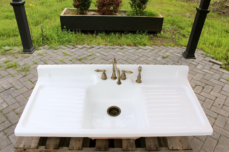Refinished 1952 Double Drainboard Farm Sink Standard Co
