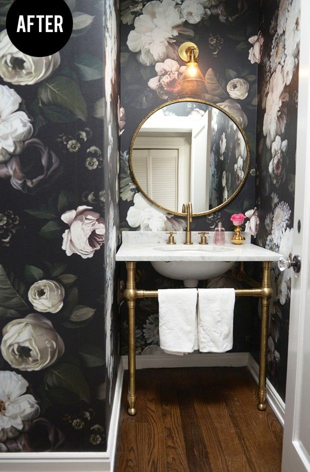 10 Beautiful Bathrooms With A Round Vanity Mirror Wallpaper Paint