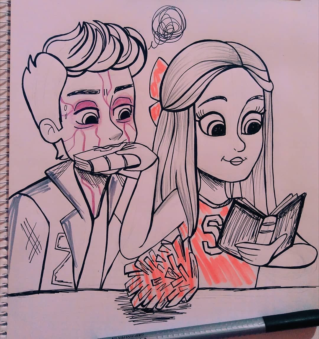 Quickdrawing When Your Girlfriend Looks Delicious But You Can T Eat Her Amood I M So In Love With Zombie Disney Disney Movie Characters Disney Channel Movies