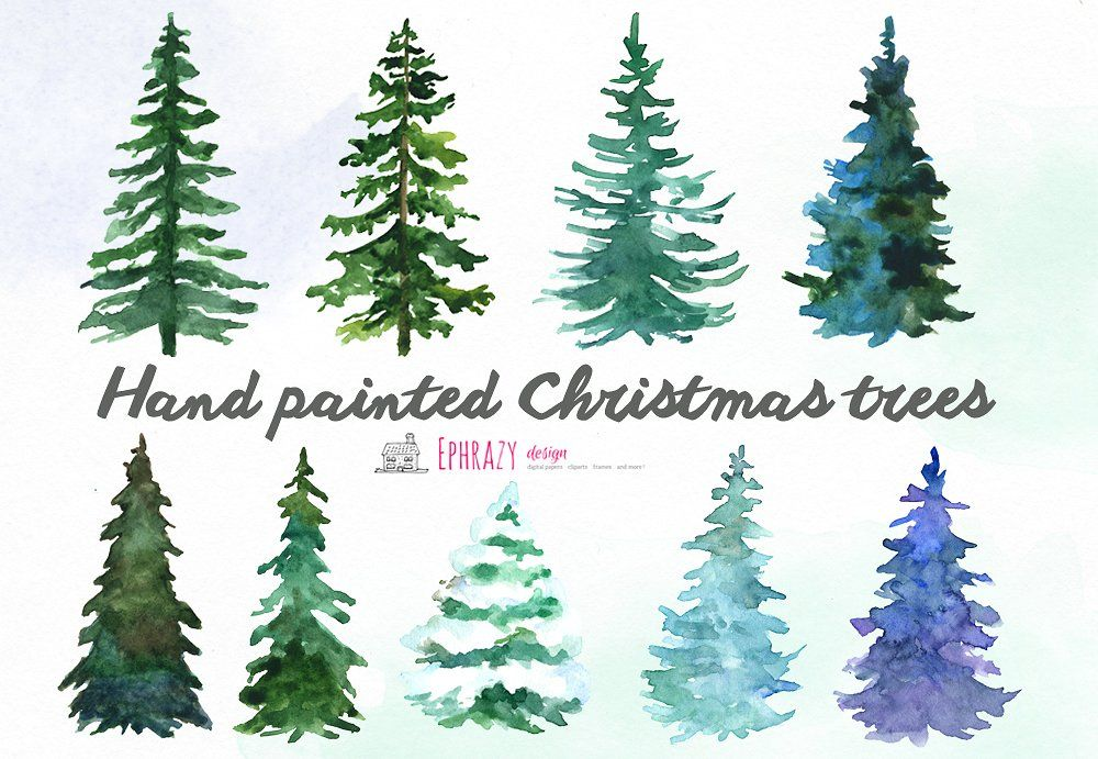 Christmas Tree Clipart Watercolor Watercolor Christmas Tree