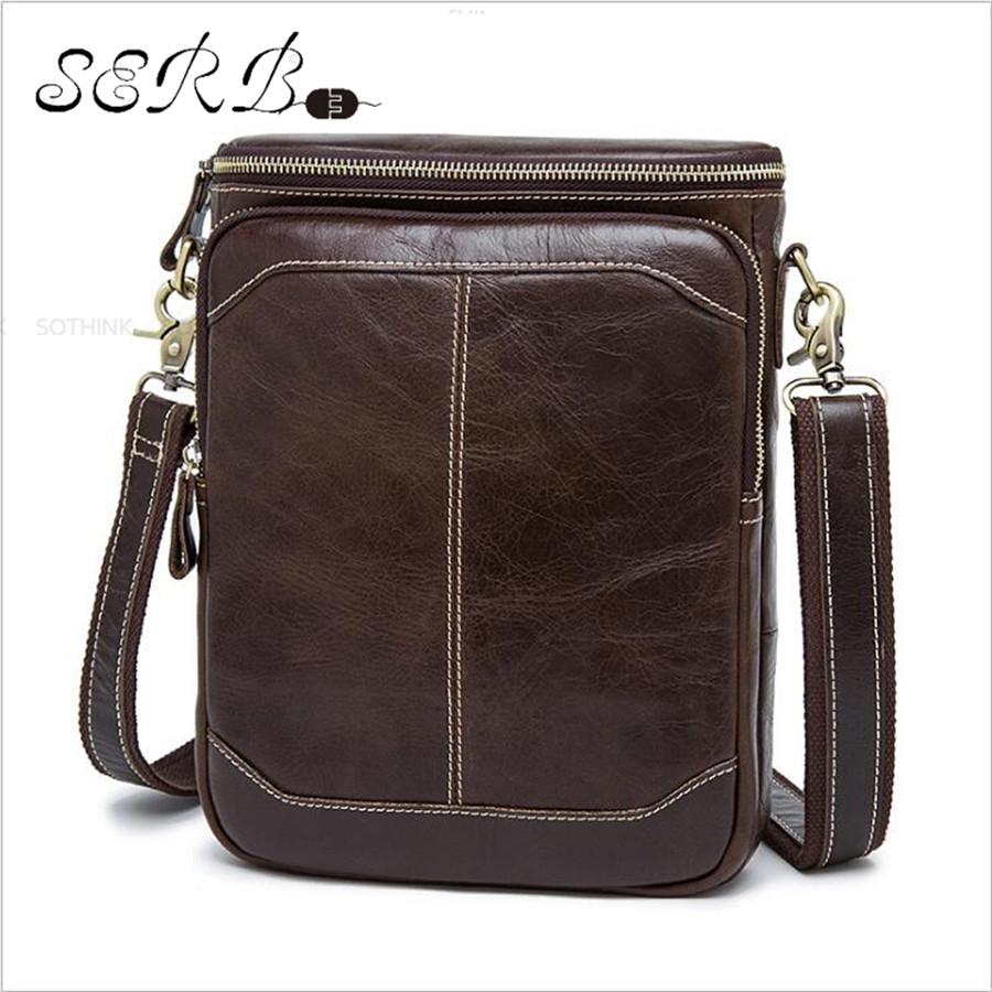32.29$  Watch here - http://aligsg.shopchina.info/go.php?t=32768577328 - 100% Genuine Leather Mens bag Fashion Men Messenger bags Casual Shoulder Designer Handbags Men's Bags Crossbody Man Bag 32.29$ #bestbuy