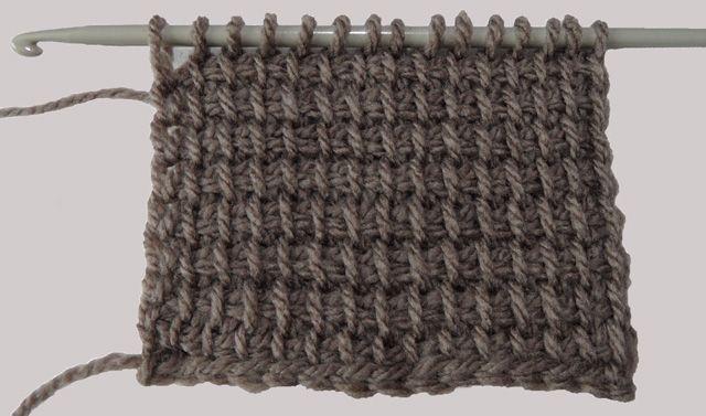Verschillende Steken Tunische Haken Tumesino Crochet Tunisian