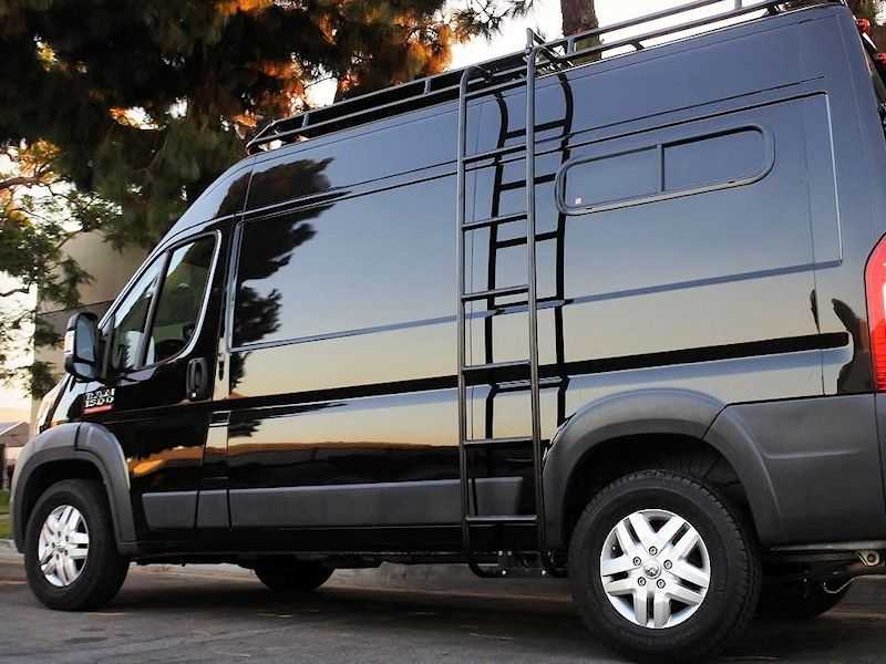 Aluminess Ladder And Roof Rack On Dodge Promaster Roof Roof Repair Roofing