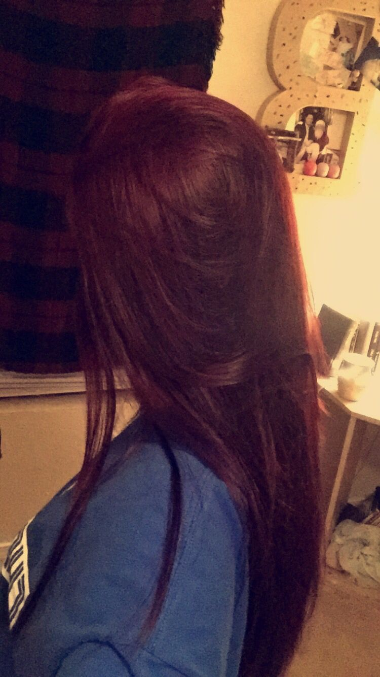 My Burgundy Red Hair Using Loreal Hicolor Hilights In
