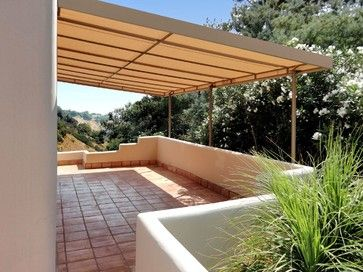 Stationary Canvas Patio Cover Mediterranean Los Angeles By Canvas Patio Covers Pergola Patio Shade