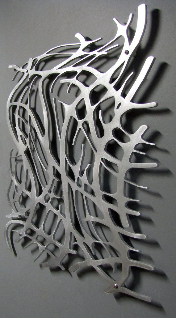 Art Nouveau Web No 6 In Brushed Aluminum 23 X 23 Wall Sculpture Art Metal Sculpture Wall Art Metal Art Projects