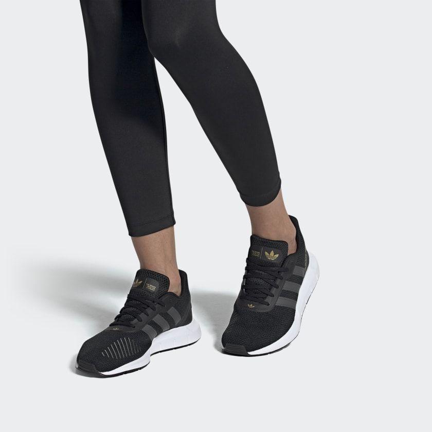 all black adidas swift run women's