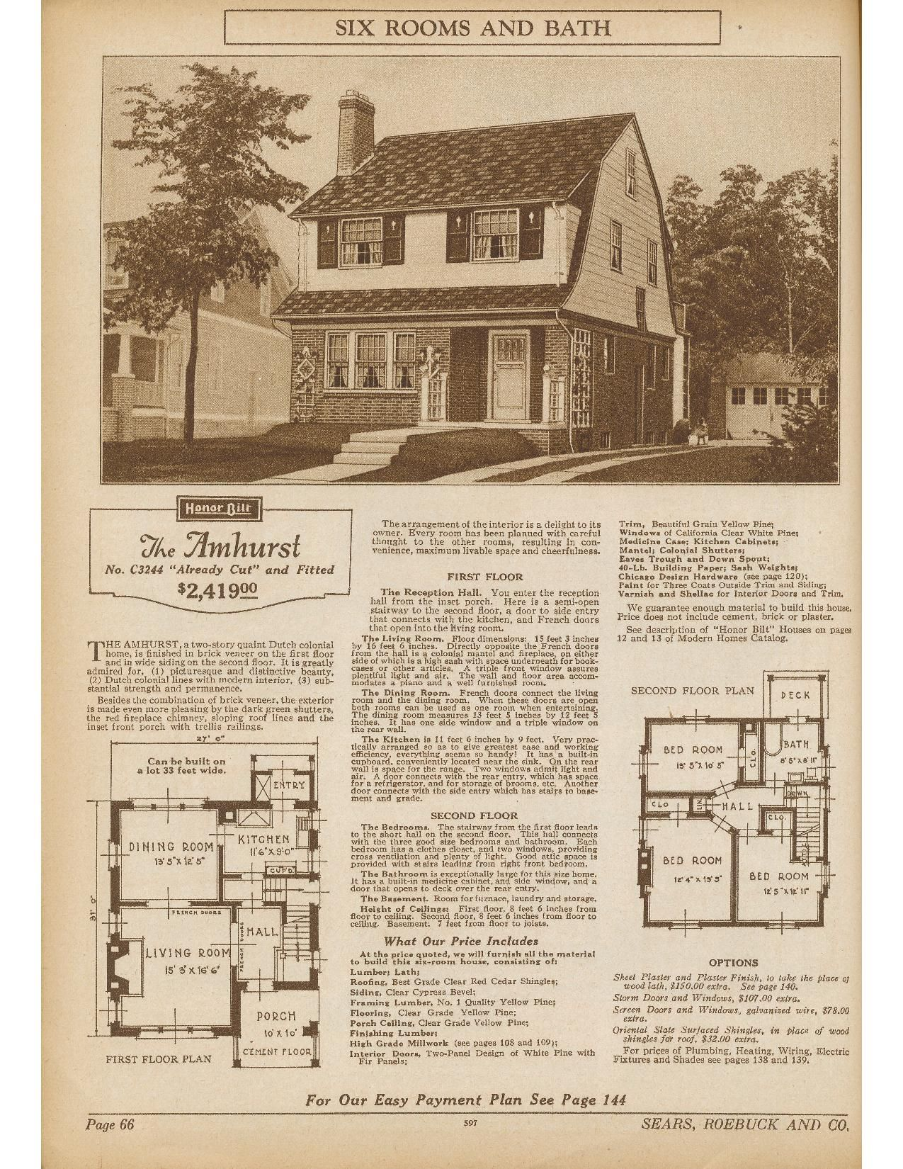 Pin By Dale Haynes On Vintage Home Plans In 2020 Dutch Colonial Kit Homes House Plans