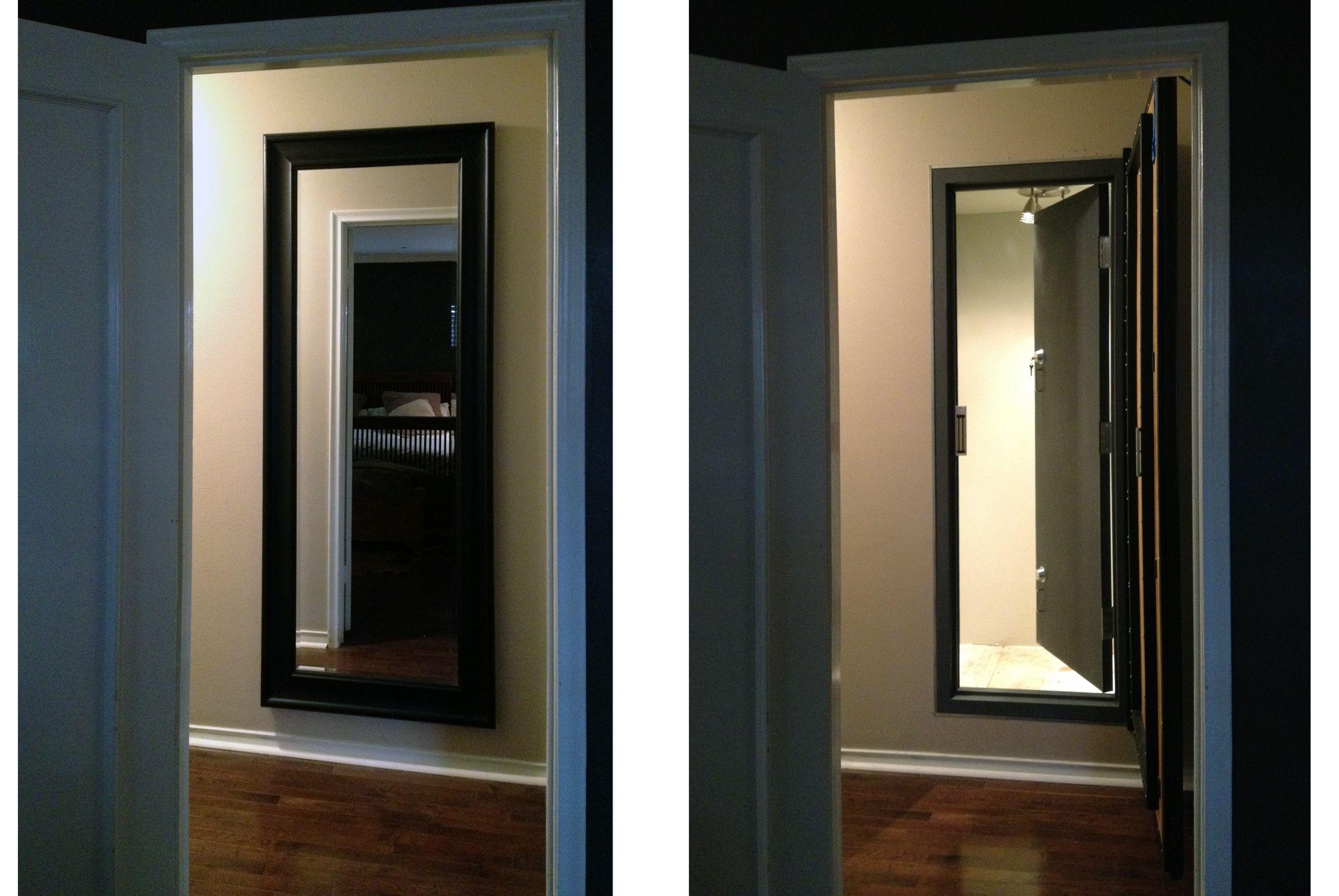 HiddenSafeRoomDoor Hidden safe room with door