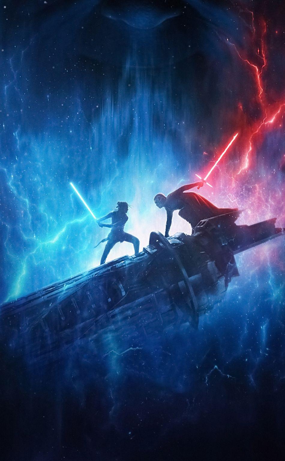 950x1534 Star Wars The Rise Of Skywalker Kylo Ren And Rey 2019 Movie Wallpaper Star Wars Wallpaper Iphone Star Wars Background Star Wars Pictures