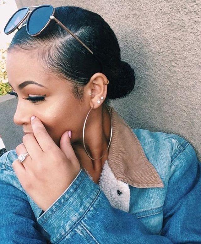 Cute Low Bun Edges On Fleek Repost Edges Fleek Blackhair Girls Hairinspiration Cute Gorgeous Natural Hair Styles Curly Hair Styles Hair Styles