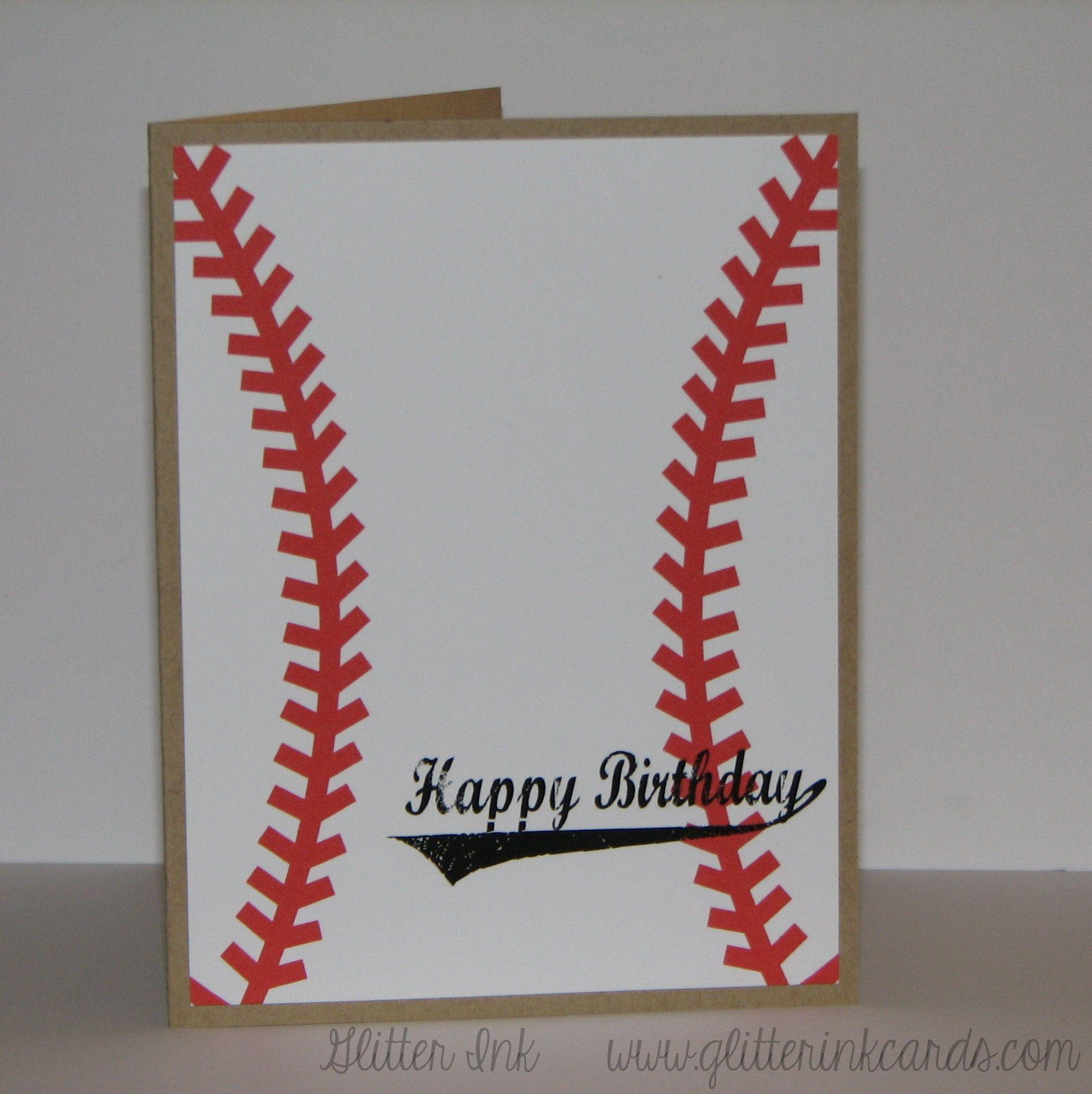 Baseball Themed Birthday Card 500 Handmade