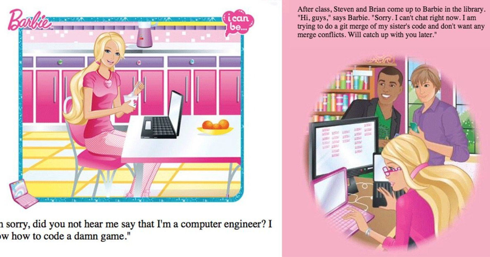 The Internet Has a Perfect Response to the Barbie Programming Book Sexism