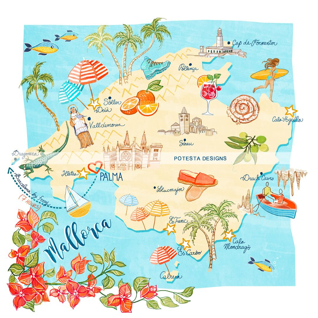 Mallorca Map To Help You Explore All Of Its Beauties Entirely