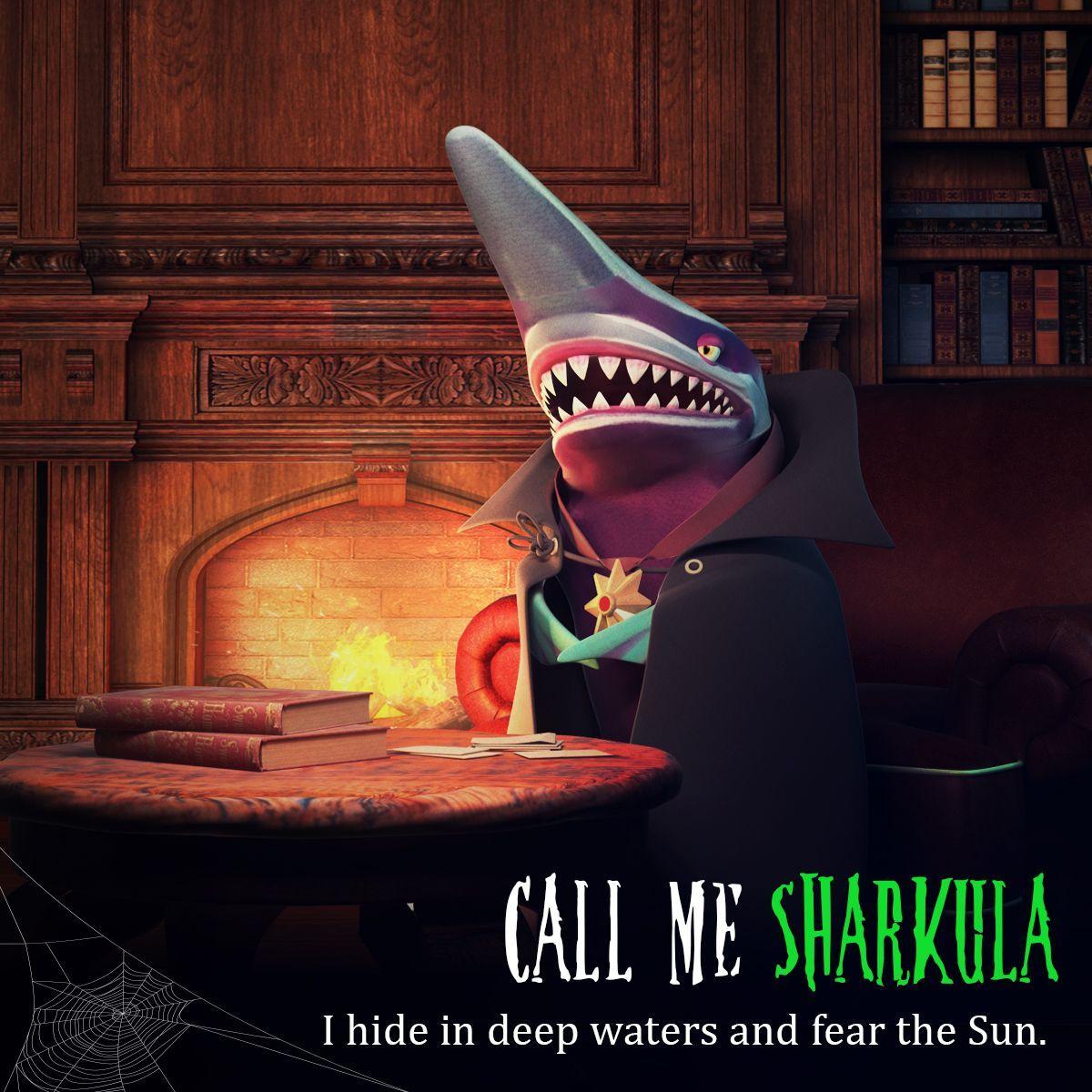 Call me SHARKULA Shark, Goblin shark, Great white shark