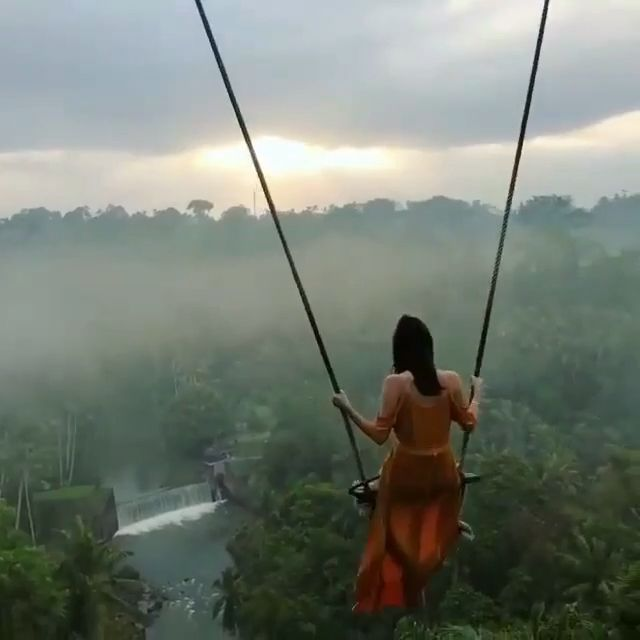 Crazy swings at Bali Indonesia