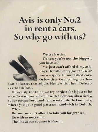 Avis Is Known For Great Advertising This Print Ad However Falls