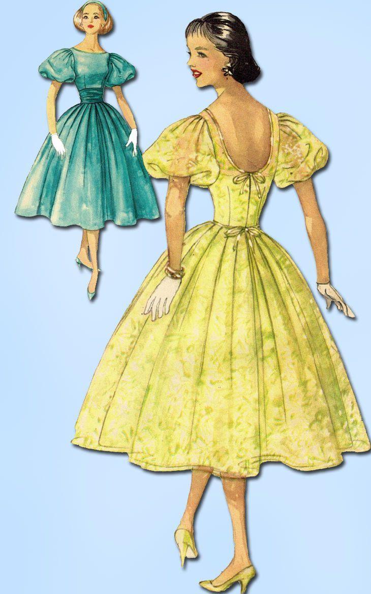 1950s vintage simplicity sewing pattern 2321 uncut misses prom 1950s vintage simplicity sewing pattern 2321 uncut misses prom dress sz 12 32b jeuxipadfo Image collections