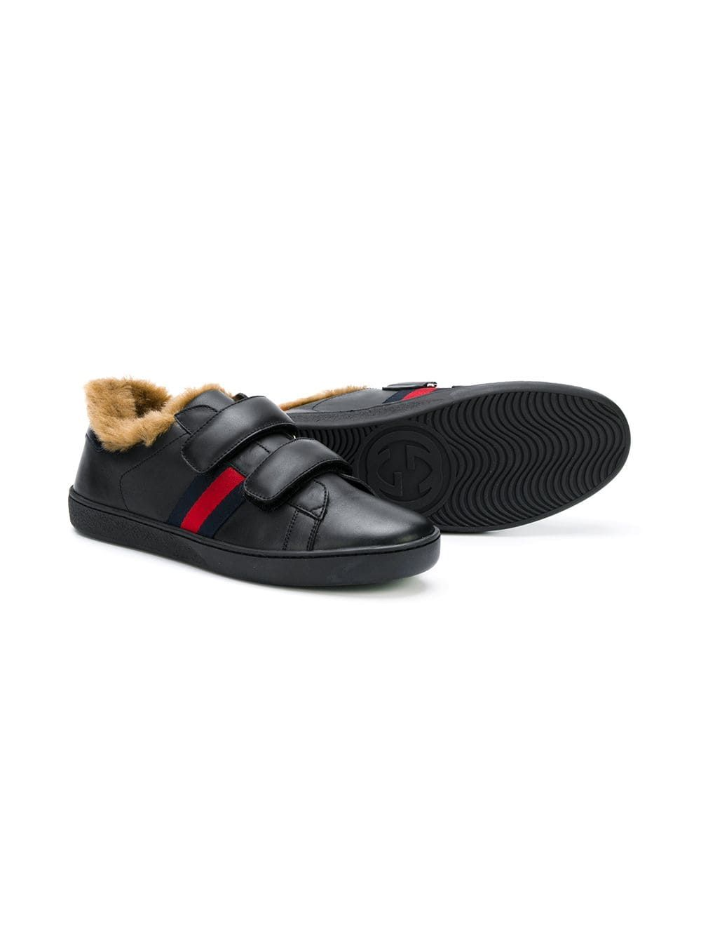 GUCCI FUR LINED SNEAKERS