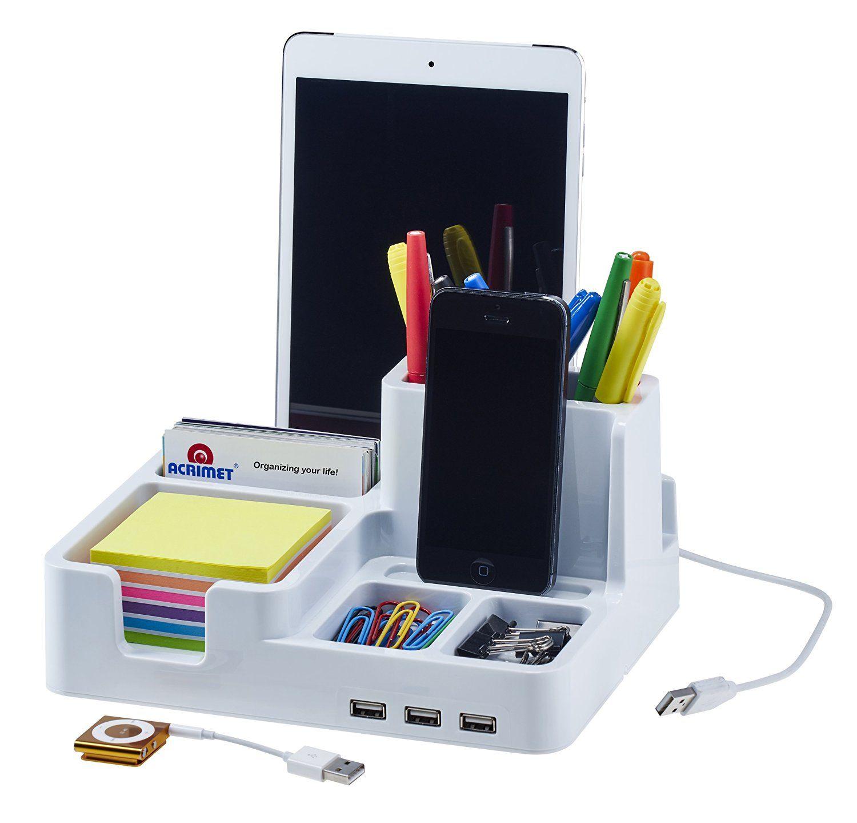 Amazon Com Smart Desk Organizer White Color Home Amp Kitchen Smart Desk Desk Organization Desktop Organization