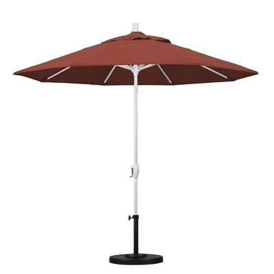 California Umbrella 9' Market Umbrella Frame Finish: Matted White, Fabric: Terracotta