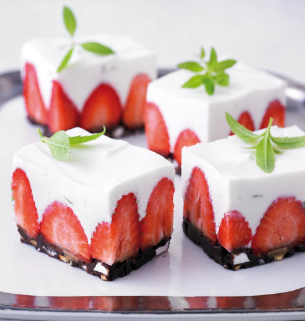 Erdbeer Frischkase Torte Rezept Kuchen