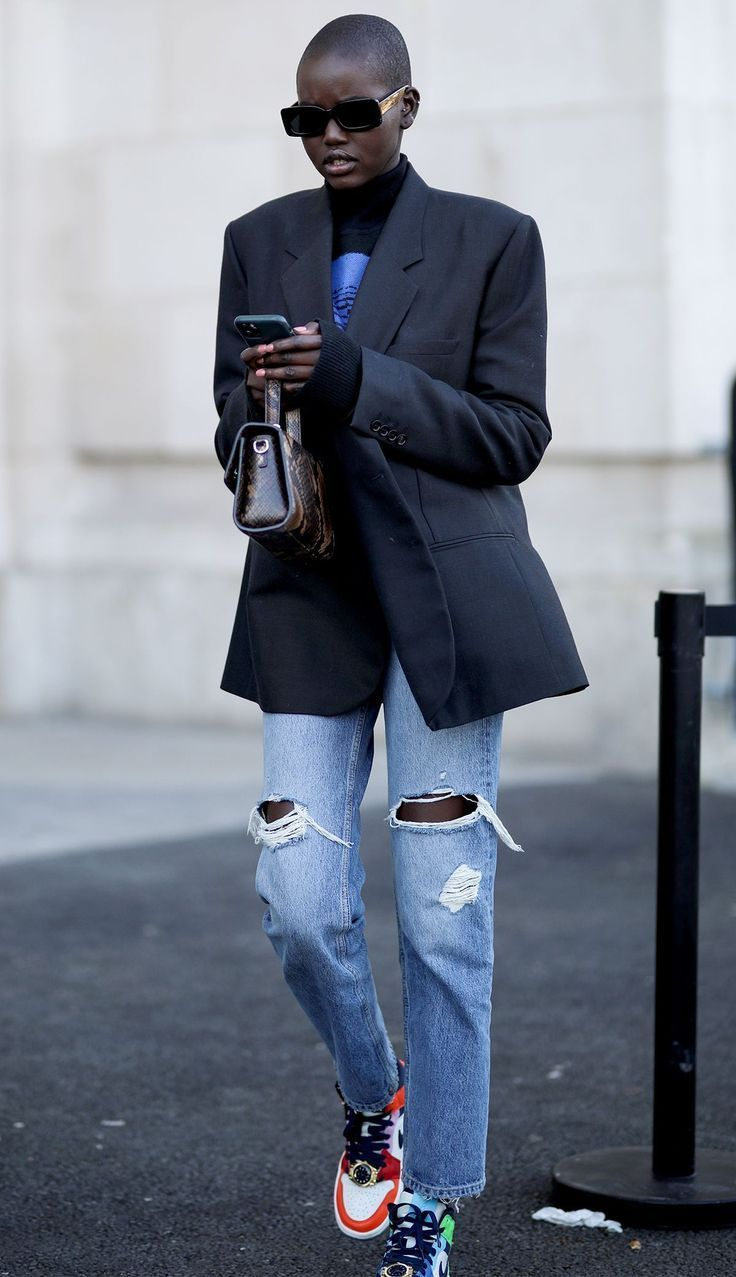 7 Denim Trends Models Are Wearing to Work (That Aren't Skinny Jeans) (WhoWhatWear.com) -   - #AngelinaJolie #arent #CelebrityStyle #denim #HollywoodActresses #jeans #models #skinny #trends #wearing #whowhatwear #WhoWhatWearcom #work