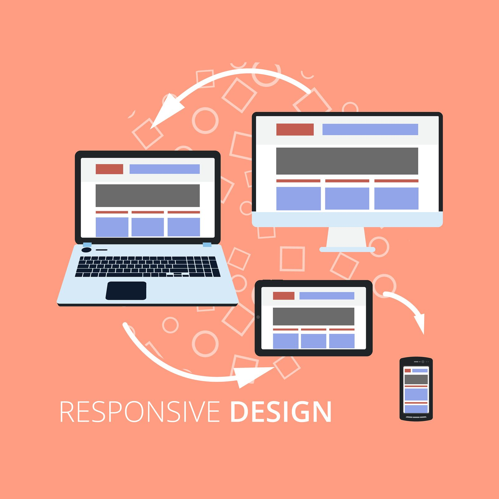 The New Era For The Designing Approach Is Responsive Web Design Make Website More Fit For Different Plat Web Development Design Web Design Web Development