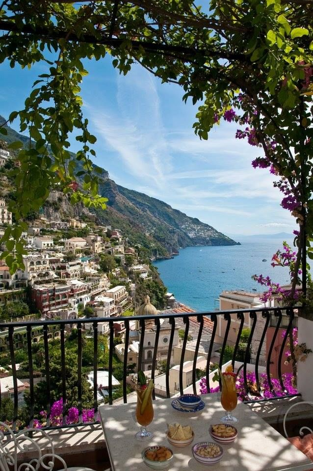 Having Breakfast At The Hotel Poseidon In Positano J Michael