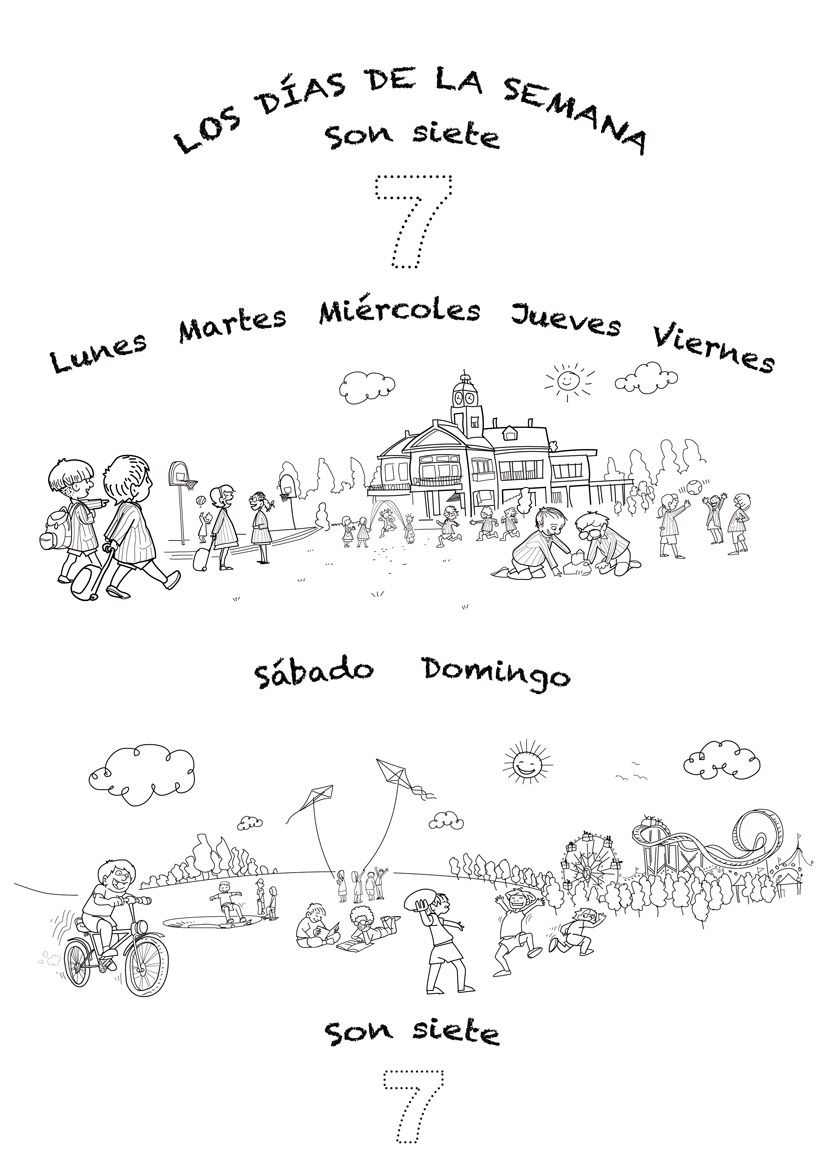 Workbooks learning spanish for kids free worksheets : Coloring sheet and lyrics for Spanish-language song for teaching ...