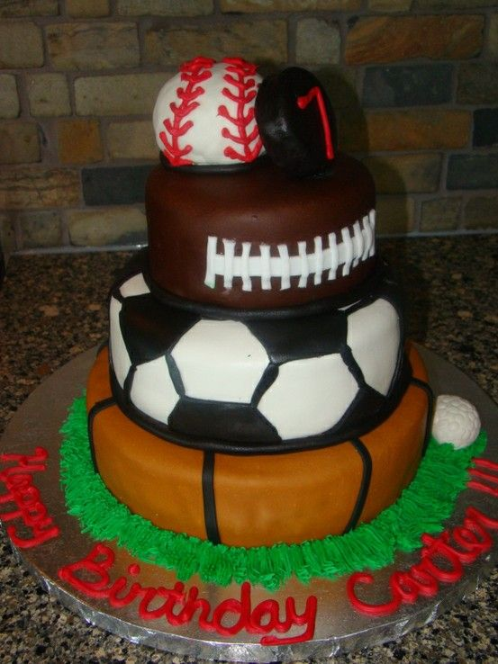 Sports Birthday Cake it has all the sports Cakes Sports
