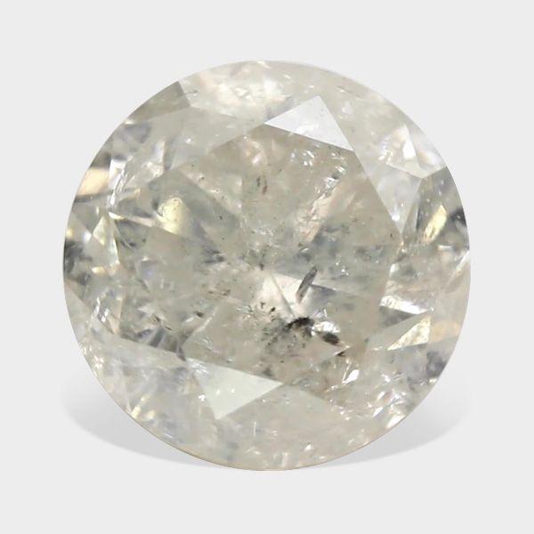 0.38 ctw, 4.37 mm, G White Color, I-3 Clarity, Round Brilliant Natural Diamond  #whitediamond #loosewhitediamond #whiteroundiamond