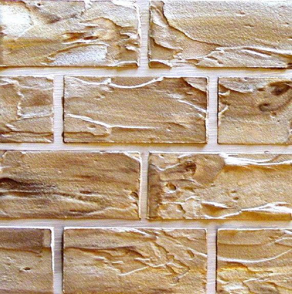 Faux Brick And Plaster Wall: Stencil, Wall Stencil, Raised Plaster Standard Brick