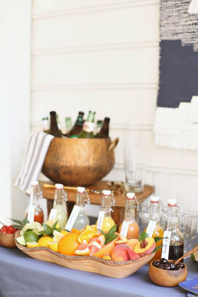 How to Create a Pizza & Beer Party Bar | Pizzas, Bar and Birthdays