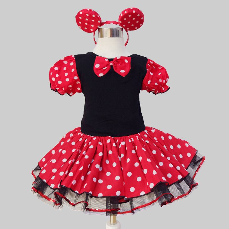c842031f0 Baby Girls Clothes Baby Girls Dress Kid's Clothing Mickey Mouse Cartoon  Style Ballet Dance Summer dress