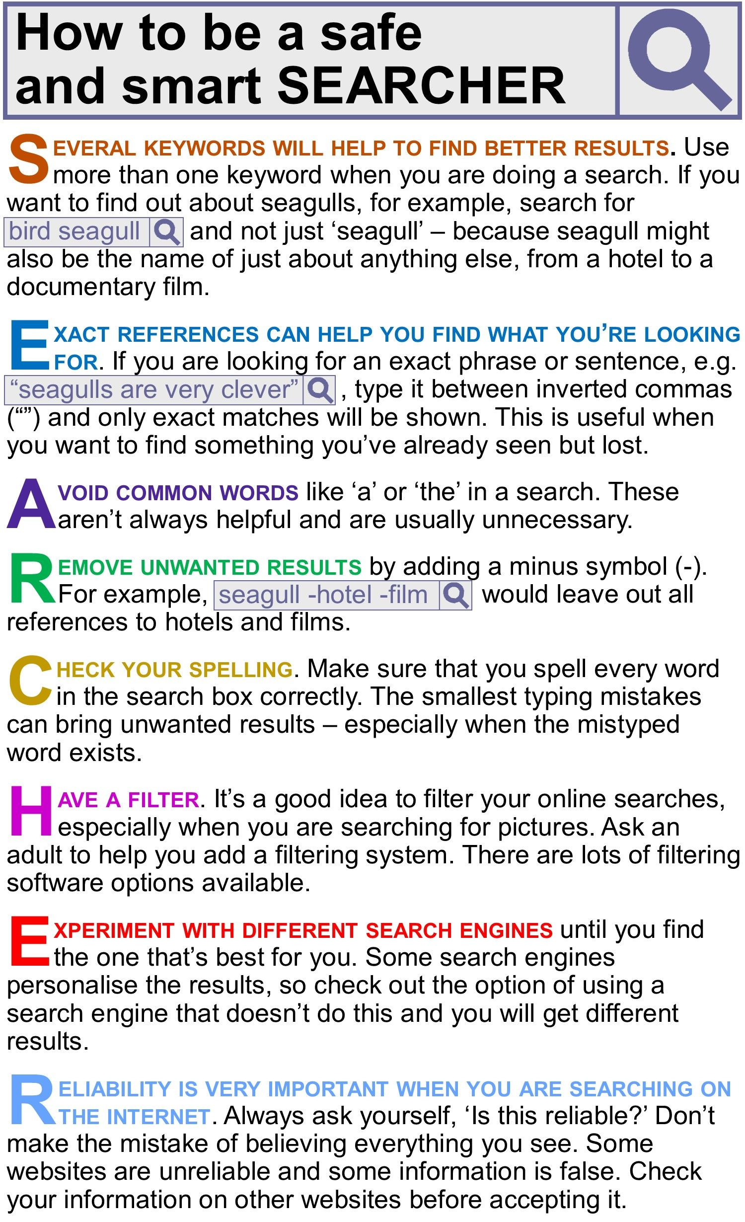 How To Be A Safe And Smart Searcher