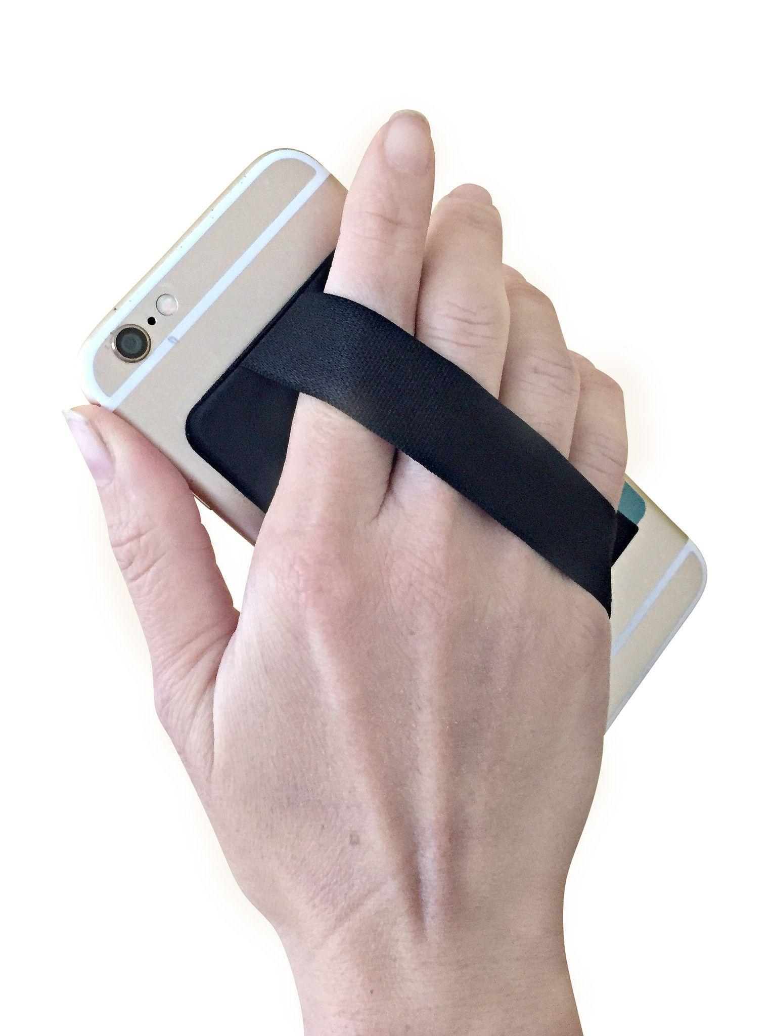 Cyanics adhesive stick on card holder pocket hand strap