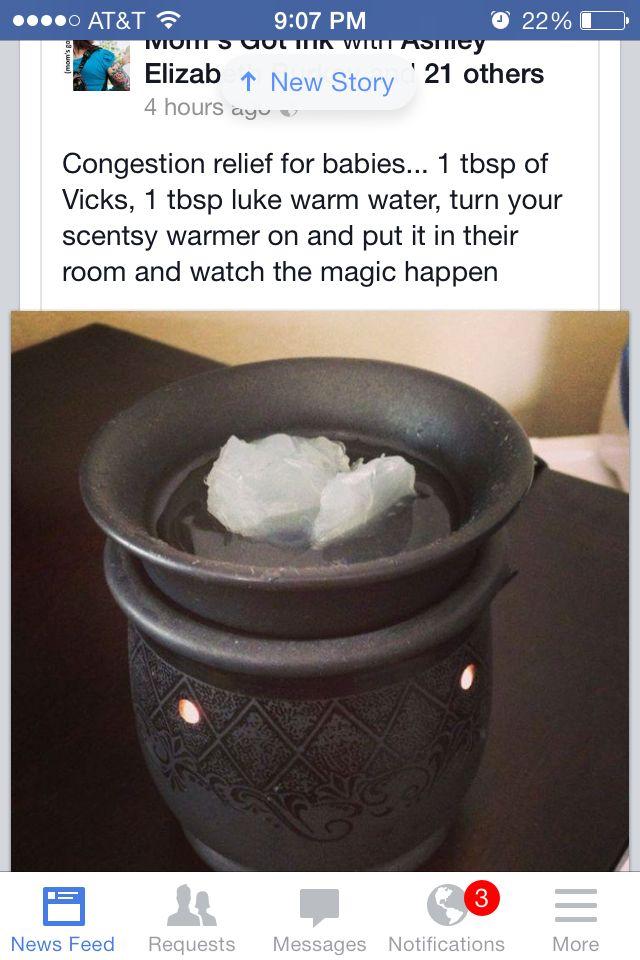 Vicks Vapor Rub Heated In A Tart Warmer That S A Good