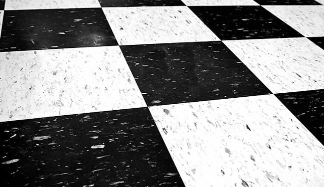 Vinyl Composite Garage Floor Tile Cool Checkered Flag Theme Is Very Retro