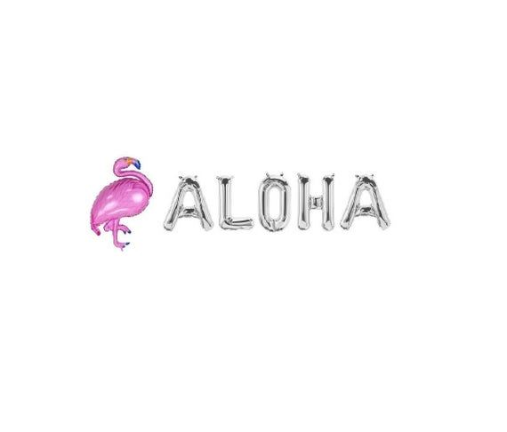 Aloha Silver Balloons,Aloha Letter Balloons,Aloha Silver,Aloha Balloons,Aloha Theme,Aloha Party,Luau #alohaparty